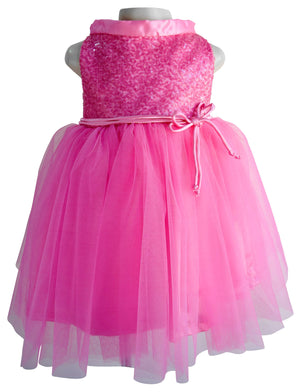 Faye Blush Pink Sequin Dress for Kids