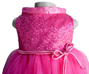 Faye Blush Pink Sequin Dress for Kids with Satin Band