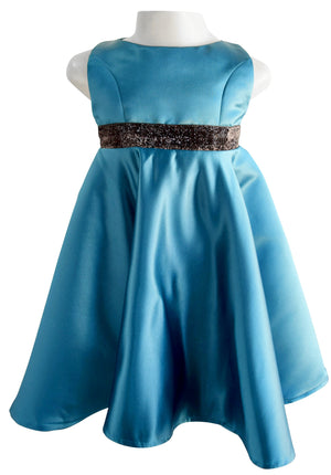 Faye Teal Green Formal Dress_Kids wear