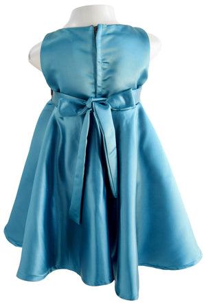 Faye Teal Green Formal Dress for Kids