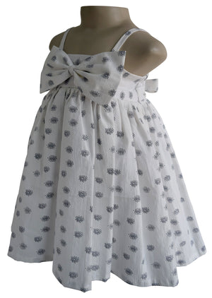 Big Bow Cotton Casual Dress