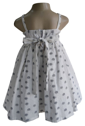 Big Bow Cotton Dress for baby girls