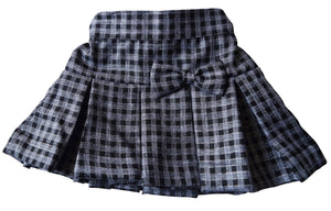 Skirt for girls_Black & Grey Checks Skirt