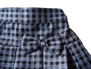 Black & Grey Checks Skirt