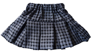 Party Skirts_Black & Grey Checks Skirt