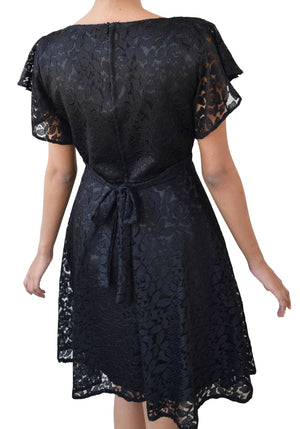 Black Lace Party Dress for Girls