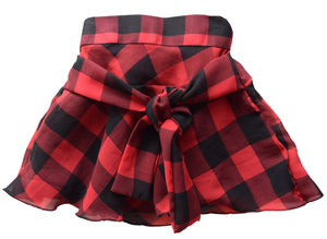 Skirt for Girls in Black & Red Checks