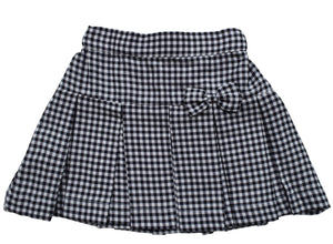 Kids wear_Black & White Checks Skirt