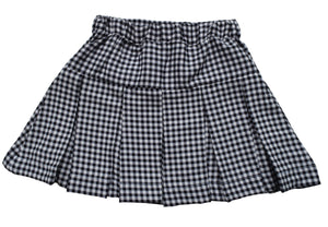 Skirt for Kids_Black & White Checks Skirt