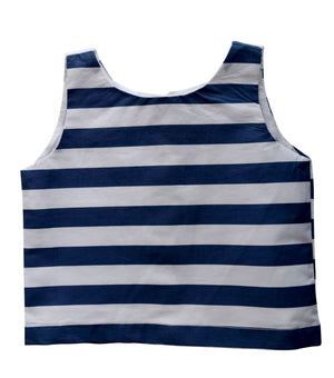 Faye Blue Striped Top for girls