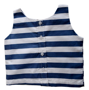Faye Blue Striped Top for kids