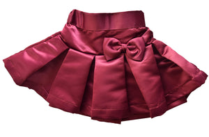 Burgundy Satin Skirt for Kids