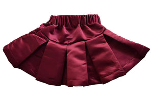 Burgundy Satin Skirt for girls