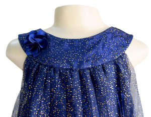Faye Pleated Shimmer Dress for baby girls