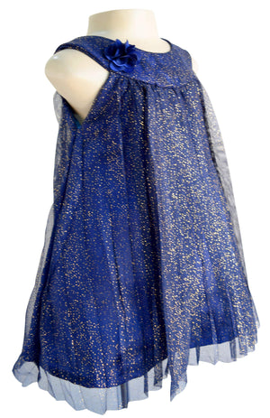 Faye Pleated Shimmer Dress for girls