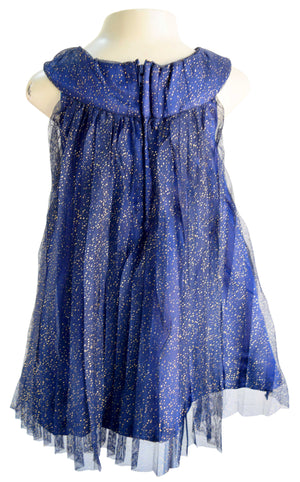 Faye Pleated Shimmer Dress