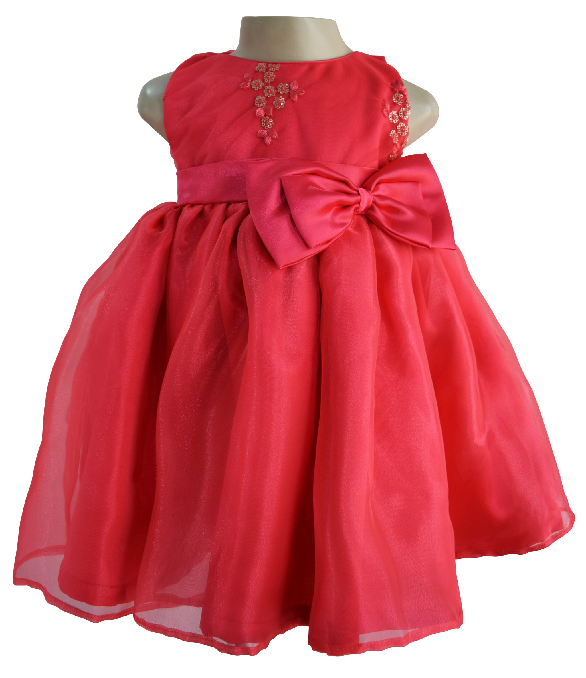 354472494d Dress for girls Coral Embroidered Kids Dress