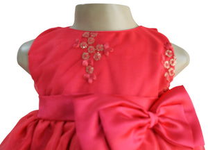 Dress for girls_Coral Embroidered Kids Dress