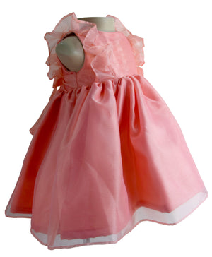 Coral Ruffle Dress for Kid Girls