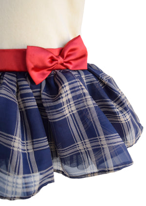 Cotton Velvet Kids Dress with bow