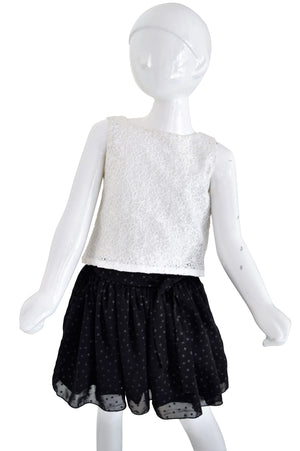 Kids Wear_Faye Star Georgette Gathered Skirt with Ivory Top