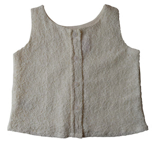 Kids Top_Ivory lace Crop Top