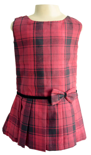 Faye Drop-waist Maroon Kids Dress