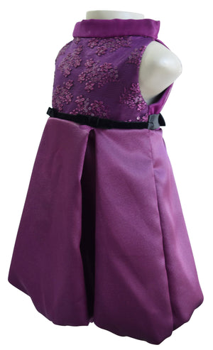 Kids wear_Embroidered Plum Dress