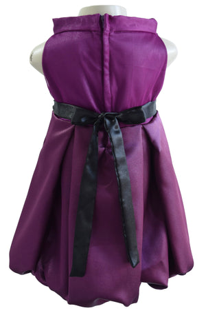 Embroidered Plum Dress for girls_faye
