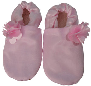 Baby Shoes_Pink Tissue with Pink Flower Booties