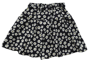 Girls skirt_Faye Black Flower Print Skirt