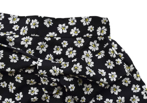 Faye Black Flower Print Skirt