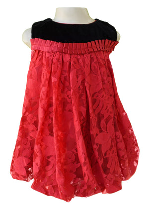 dress for girls_Faye Black & Red Lace Balloon Dress