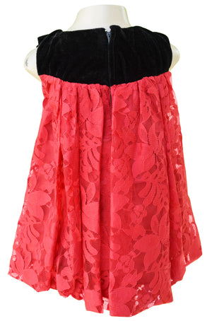 Faye Black & Red Lace Balloon Dress