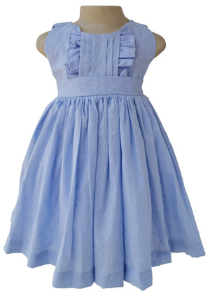 Baby dress_Faye Blue Swiss Dot Dress