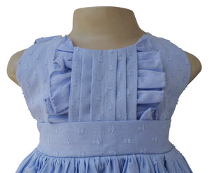 Dress for girls_Faye Blue Swiss Dot Dress