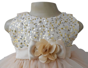 Dress for girls_Faye Champagne Water Fall Dress