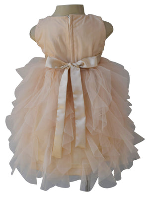 Champagne Water Fall Dress for girls