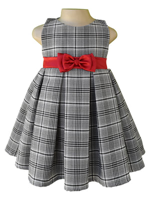 Kids dress_Faye Checks Pleated Dress