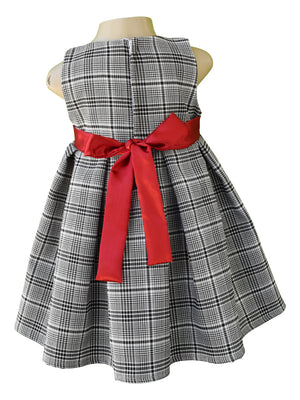 Checks Pleated Dress