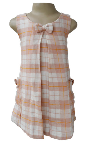 Kids Frocks_Faye Checks Pleated Dress