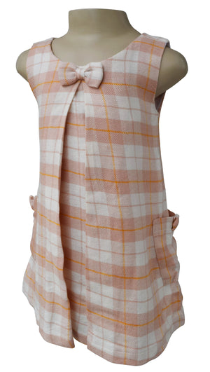 kids wear_Faye Checks Pleated Dress