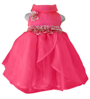 Party Dress for girls_Faye Coral Cowl Neck Dress