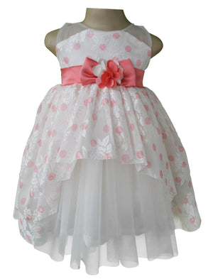 kids dress_Faye Coral Polka Party Dress