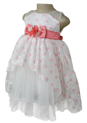 dress for girls_Faye Coral Polka Party Dress