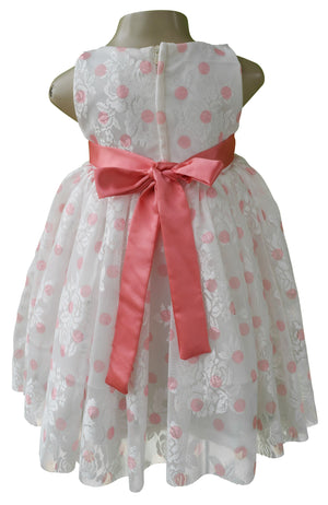 baby dress_Faye Coral Polka Party Dress