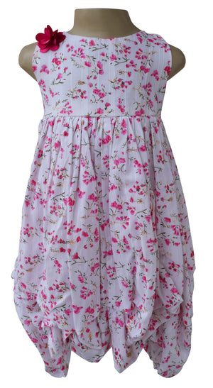 kids dress_Faye Fuchsia Floral Dress