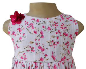 kids wear_Faye Fuchsia Floral Dress