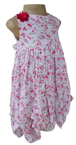 Dress for girls_Faye Fuchsia Floral Dress