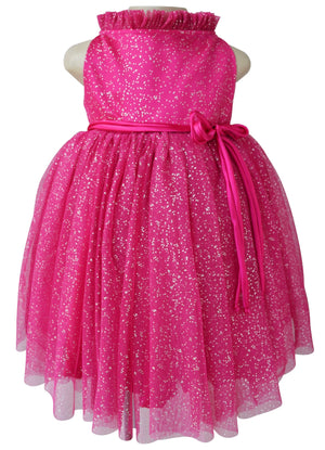 Birthday dress_Faye Fuchsia Silver Dot Party Dress